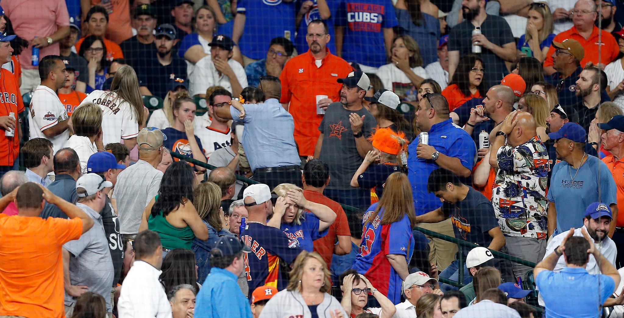 baseball foul balls are thrown into th crowd