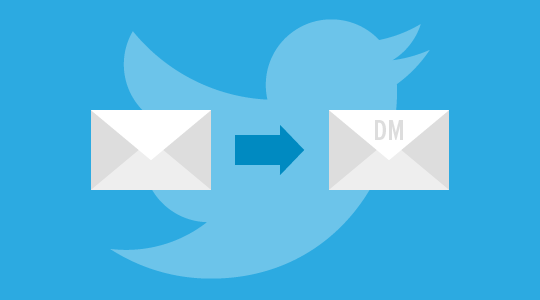 Direct message to the prospect on twitter