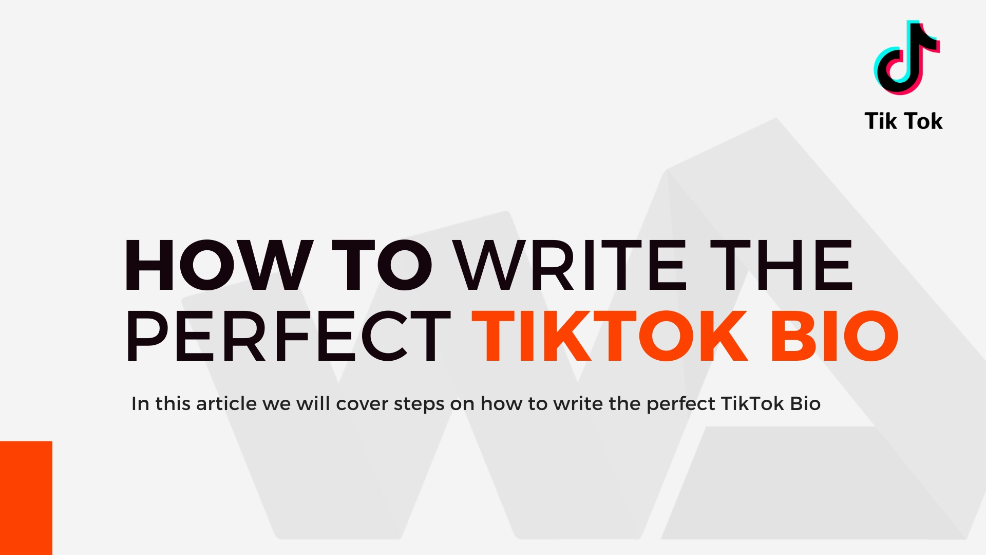 Tips For Writing Killer Bio For More TikTok Followers